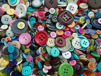 Sewing Button Mix #1 Bulk Lots of 100, 200, 300, 400, 500 New and Vintage (Craft Buttons)