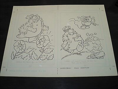 Snugglebumm Coloring Book Original Artwork RARE! Stan Goldberg! ART#0572