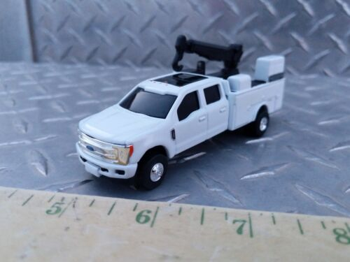 1/64 CUSTOM farm toy Ford f350 sd white dealer service pickup truck s scale