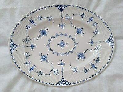 Furnivals  Blue & White - Denmark - Oval Plate /Platter