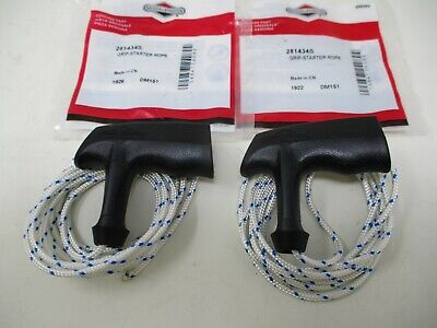 2 281434S  Briggs & Stratton Grip Recoil Pull Start Handle w #4 Rope Cord 6' -