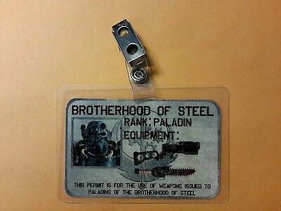 Fallout Id-Plakette - Brotherhood Of Steel Rang Paladin Cosplay Requisite Kostüm