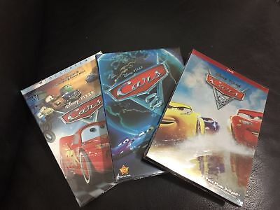 Disney/Pixar Cars 1 Cars 2 Cars 3 Trilogy DVD Set Free Shipping