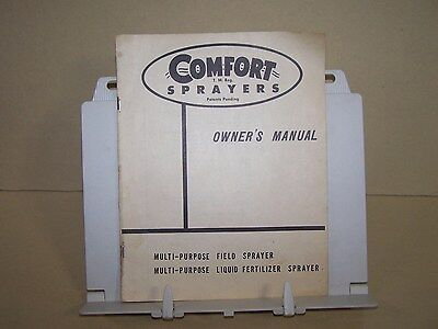 Comfort Multi Purpose Field And Fertilizer Sprayer Owners Manual Farm Implement