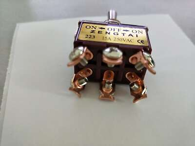 Momentary 20a 125v Dpdt 2 Pole Double Throw 6 Pin On Off On Toggle Switch