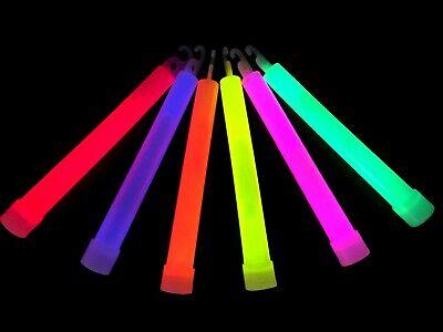 6 inch 25 pcs Super Bright Premium Thick Waterproof & Non-Toxic Glow Sticks Mix