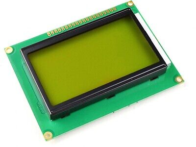 Graphic Lcd 12864 Glcd 128 X 64 Yellow-green St7920 Serial And Parallel Mode