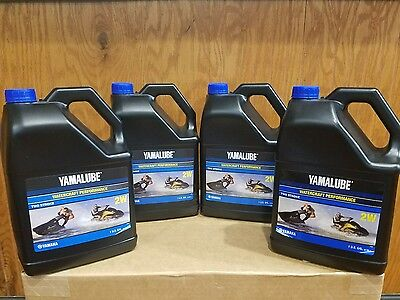YAMALUBE 2W PWC WAVERUNNER WATERCRAFT 2-STROKE ENGINE OIL  ( X4 )