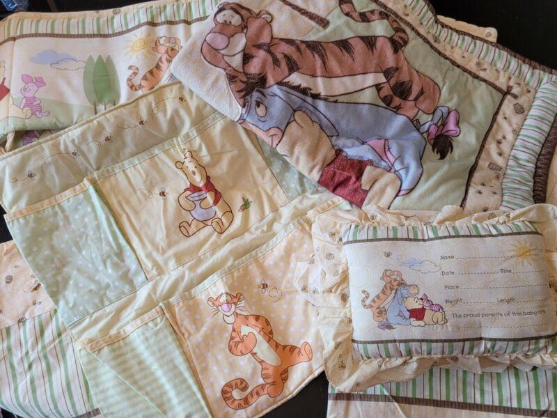 Whiney The Pooh Crib Bedding Set Bumblebee Honey Unisex Quilt Bummer