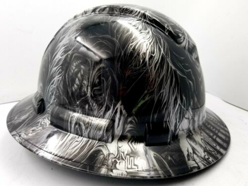 Hard Hat custom hydro dipped , OSHA approved FULL BRIM , IRON MAIDEN EDDIE NEW 1