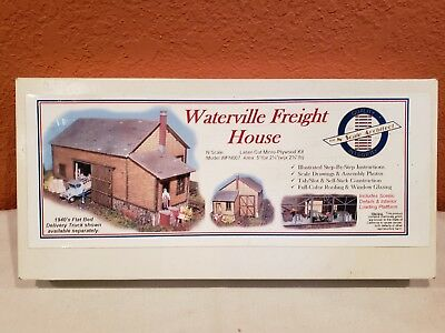 - N SCALE ARCHITECT WATERVILLE FREIGHT HOUSE LASER CUT MICRO PLYWOOD KIT #WFN007.