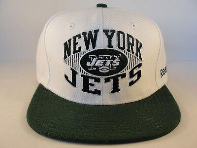 New York Jets NFL Reebok Snapback Hat Cap White Green