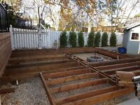 deck fence and framing