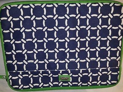 New Ame & Lulu Laptop Case Harbor Navy Grass Pattern Hunter Douglas laptop bag -