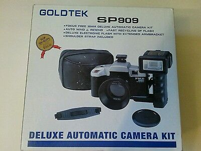 Automatic 35MM Camera MODEL SP909 deluxe kit BY Goldtek *NIB* photo retail $395!
