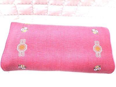 Korean traditional chrysanthemum floral    buckwheat   Pink  pillow home decor