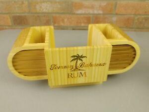Tommy Bahama Rum Bamboo Wood Bar Caddy
