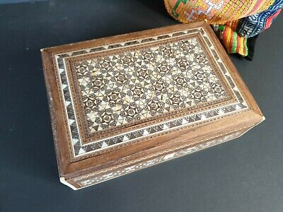 Old Persian Inlaid Wooden Box …beautiful collection piece
