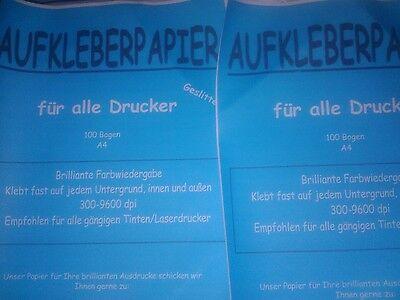 .100  Bogen A4 Premium Klebepapier selbstklebend - Restposten  Neu....