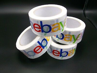 4x Ebay Packing Tape Box Tape Packing Tape Shipping Supplies Lot Of 4 New
