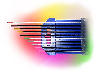 10 Wolframelektroden Rainbow Set 1,0 x175mm WIG Tungsten Wolfram Elektrode Nadel