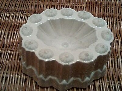 Shelley pottery antique jelly mould highly decorative 8 in