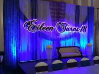 BACKDROP WITH LED LIGHTS FROM $200