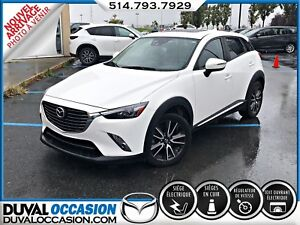 2016 Mazda CX-3 GT + NAVIGATION + CUIR + TOIT OUVRANT + AWD