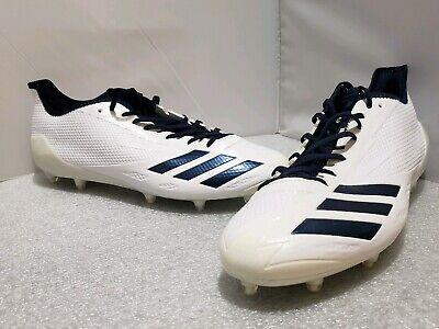 Adidas Adizero 5-Star 6.0 Football Cleats Men's Size 14 #B42466 White/Navy Blue