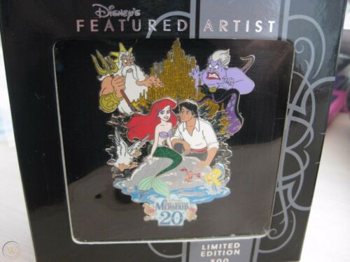 Disney DLR Featured Artist 2009 Little Mermaid 20th Anniversary Jumbo Pin Ariel