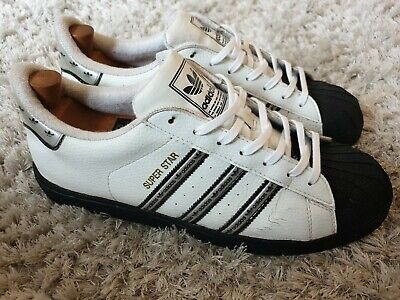 Adidas Superstar Mens Vintage 1998 White & Black Trainers - UK Size 10.5 - RARE