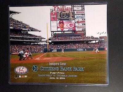 Philadelphia Phillies Citizens Bank Park First Pitch 8X10 Photo April 12  2004