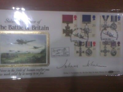 50th anniversary of the Battle of Britain. Signed Johnson RAF Coningsby