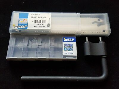 Grooving Kit Iscar Gif 5.00e-0.80 Ic908 10pcs Blade Cghn 32-5dg 1pc Key 1pc