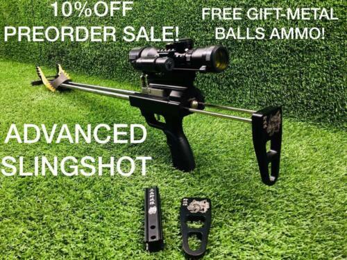 Sling Shot Gun Catapult Hunting Rifle Continuous Shooting Advanced Hunt Fishing