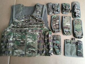 MTP Osprey MK4 Body Armour Vest + 9 Pouches 170/112 Multi Terrain Pattern