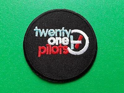 PUNK ROCK HEAVY METAL MUSIC SEW / IRON ON PATCH:- TWENTY ONE PILOTS (a)