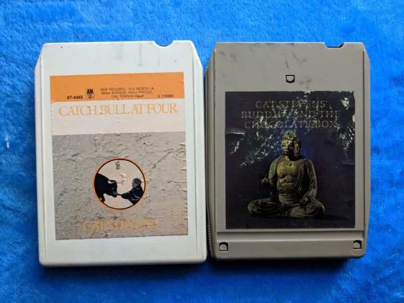 CAT STEVENS 2 8-Track Lot Catch The Bull At Four Buddha And The Chocolate Box