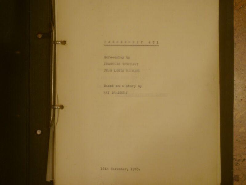 Rare original typescript script for Francois Truffaut