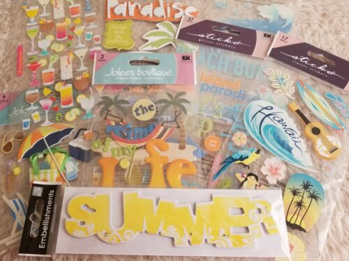 Adventure Travel Sticker Scrapbooking Crafts Beach Vacation Hawaii Summer Lot  - $20.89