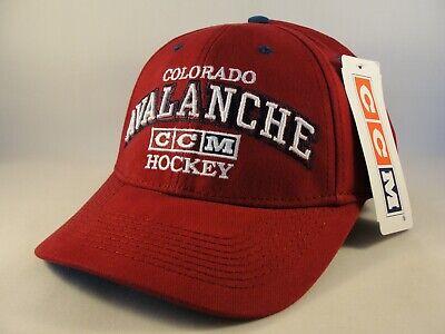 Colorado Avalanche NHL Strapback Hat Cap Burgundy CCM