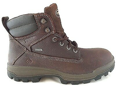 "Wolverine W08704 Men's 6"" Waterproof Soft Toe Brown Men's Work Boots Size 10"