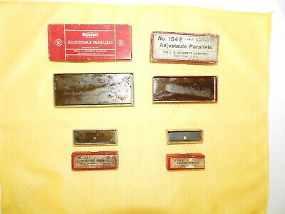 Vintage Starrett Adjustable Parallels No. 154-f 154-e 154-c 154-b In Boxes