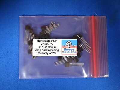 2n2907a Transistors Pnp To-92 Switching And Audio Qty Of 20