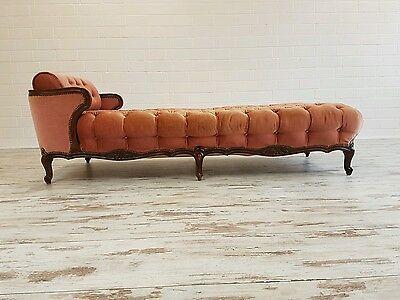 Original Chippendale Chaiselongue Daybed Sofa Stilmöbel Nussbaum