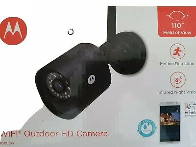 MOTOROLA Focus 72 Outdoor WiFi Home Security Camera  IP66 Water & Dustproof.