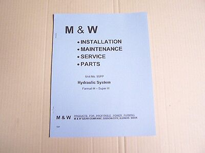 1958 Mw Live Powr Hydraulic System Manual For Farmall H Super H Tractor