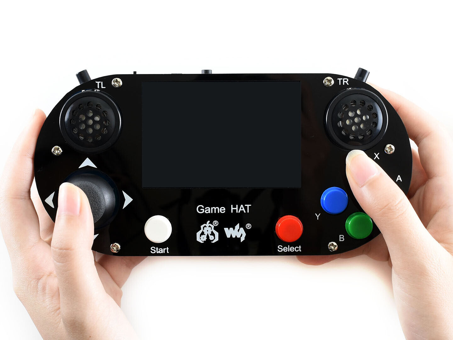 Portable Retro Gmae Console Hat for Raspberry Pi with 480×3