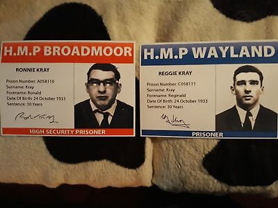 THE KRAY TWINS PRISON ID POSTERS. LEGEND. CRIME. FREE UK POST.