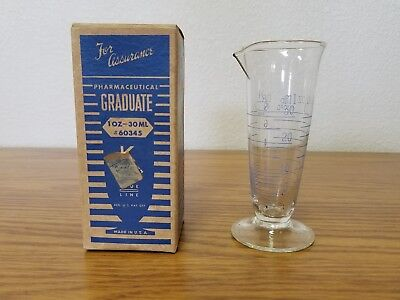 Vintage Kimble Pharmaceutical Graduate 1 Oz-30 Ml